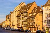 Buildings On Quai Des Bateliers In Strasbourg