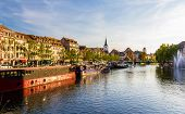 Stasbourg With The Ill River - Alsace, France
