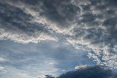 Sunset Sky With Altocumulus Cloud