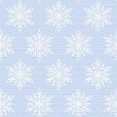 lace white snowflakes pattern
