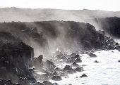 Rough  Cliffs At The Shore Of Lanzarote