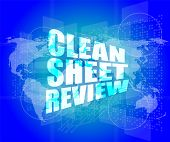 Clean Sheet Review On Touch Screen, Media Communication On The Internet