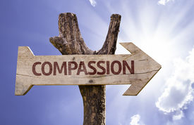 picture of compassion  - Compassion sign with a beautiful day on background  - JPG