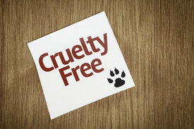 pic of animal cruelty  - Cruelty Free on Paper Note on texture background - JPG