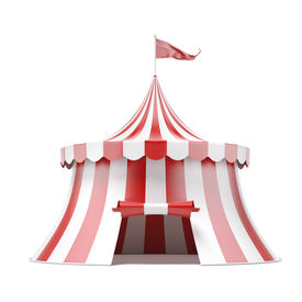 stock photo of circus tent  - circus tent isolated on a white background - JPG