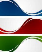 picture of wavy  - Bright abstract wavy banners - JPG