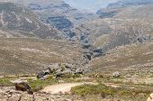 pic of passed out  - Inhospitable valleys of the arid Swartberg  - JPG