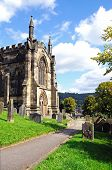 image of church-of-england  - All Saints Parish Church and churchyard Bakewell Derbyshire England UK Western Europe - JPG