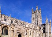 picture of church-of-england  - Cathedral church of St Peter and the Holy and Indivisible Trinity Gloucester Gloucestershire England UK Western Europe - JPG
