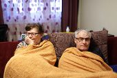 picture of conflict couple  - The senior couple having conflict at home - JPG