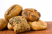 pic of sesame seed  - bakery products with seeds of poppy - JPG
