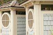image of cabana  - These beautiful Cabanas are at Coligany beach on Hilton Head Island - JPG