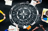 stock photo of gambler  - Roulette Casino Gambler Gambling Luck Concept - JPG