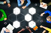stock photo of bee-hive  - Connection Corporate Networking Bee Hive Concept - JPG