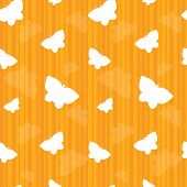 Butterflies On Orange Stripes Seamless Tile.butterflies On Orange Stripes Seamless Tile
