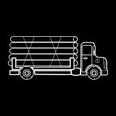 picture of timber  - A truck transporting timber logs timber - JPG
