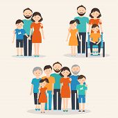 stock photo of extend  - Nuclear Family - JPG