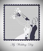 vector wedding graphic