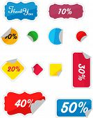 Ilustración de vector conjunto de etiquetas de último minuto en