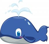 an illustration of a blue whale