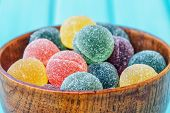 Постер, плакат: Colorful Candy And Jelly Sweet Close Up