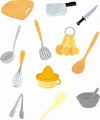 Illustration of Kitchen Accessories on white background