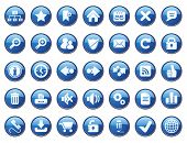 stock photo of internet icon  - Internet Icon Set - JPG