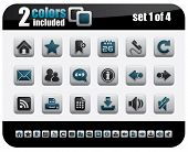 Web Icons Set. Steelo Series. Set 1 of 4.