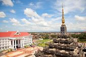 Vientiane, capital of Laos. Beautiful View from Patuxay monument.