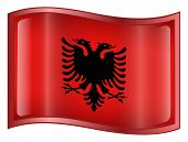Albania Flag Icon. ( With Clipping Path )