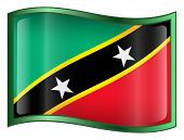 Saint Kitts And Nevis Flag Icon. (With Clipping Path)