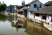 chinese building by river
