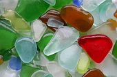 Wet Glass Stones