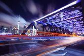 Shanghai Bridge Traffic at night
