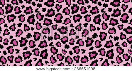 Pink And Black Leopard Skin