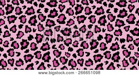 Pink And Black Leopard Skin