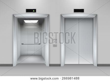 Lift Doors Building Business Office