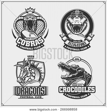 Football Badges Labels And Design