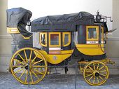 pic of stagecoach  - Old coach at the Swiss national museum in Zurich - JPG