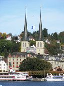 Hofkirche in Luzern, Schweiz