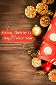 Christmas And New Years Day Festive Decoration poster