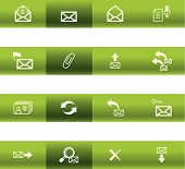 Green Bar E-Mail Icons