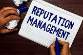 Writing Note Showing Reputation Management. Business Photo Showcasing Influence And Control The Imag poster