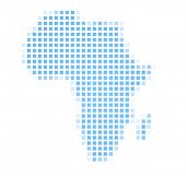 Africa Continet Map Square Mosaic