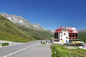 An old hotel on the Furka pass
