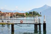 View to Menaggio town at famous Italian lake Como