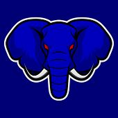 Elephant Vector Mascot. African Elephant Head. Emblem For The Sports Team.safari Hunting, Elephant T poster
