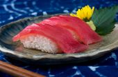 Tuna Sushi Serve In Japanese Style. poster