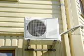 picture of air conditioning  - Landscape photo of an air conditioning unit - JPG