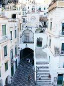 pic of salvatore  - the church of the holy Salvatore in the picturesque village of Atrani on the coast of Amalfi - JPG